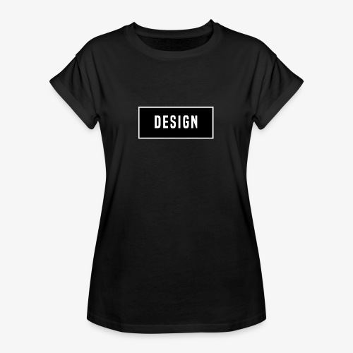 design logo - Vrouwen oversize T-shirt
