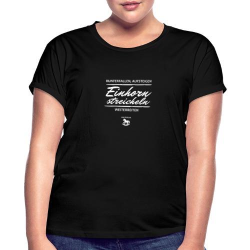 Einhorn streicheln - Frauen Oversize T-Shirt