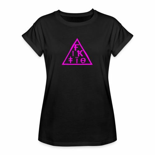 fiktio logo pink - Naisten oversized-t-paita
