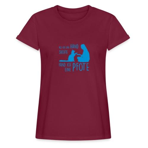 Vorschau: Fand ich eine Pfote - Frauen Oversize T-Shirt