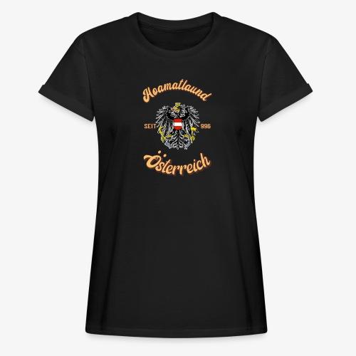 Österreich hoamatlaund retro desígn - Frauen Oversize T-Shirt