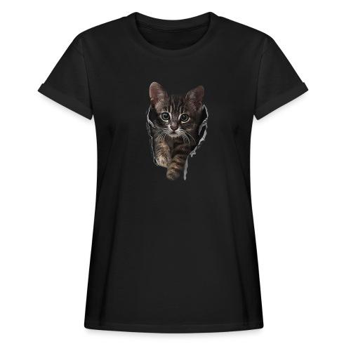 Vorschau: Katze Riss - Frauen Oversize T-Shirt