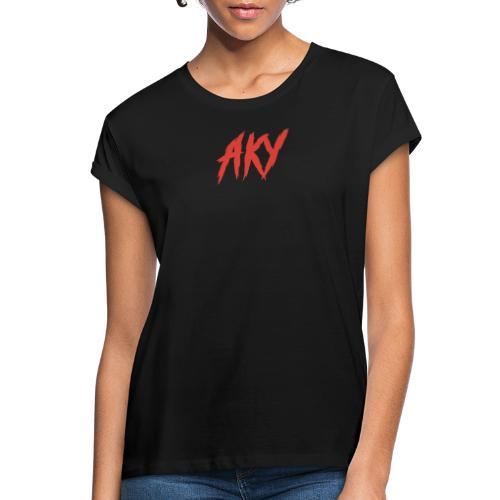 RED LOGO - Women's Oversize T-Shirt