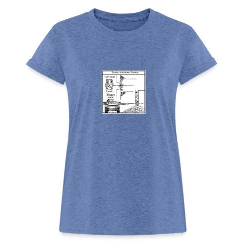 W.O.T War tactic, tank shot - Women's Oversize T-Shirt