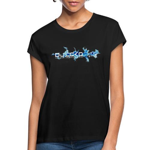 logo wave bleu fond noir - T-shirt oversize Femme