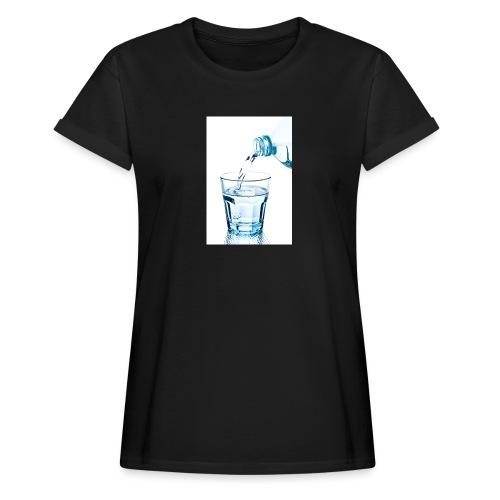 Glas-water-jpg - Vrouwen oversize T-shirt