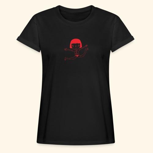 logo happy - T-shirt oversize Femme