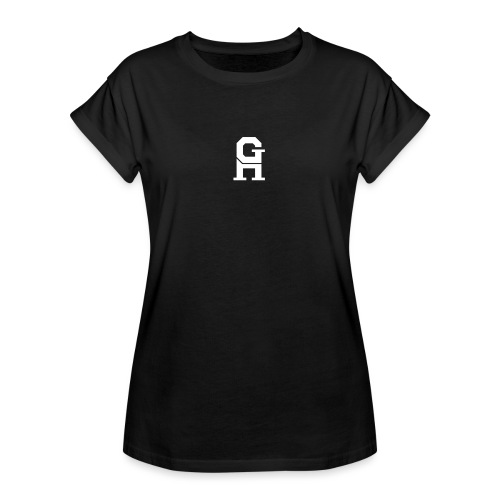 afterlife logo - white - Vrouwen oversize T-shirt