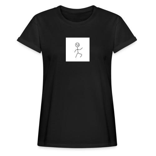 stick man t-shirt dance 1,0 - Dame oversize T-shirt