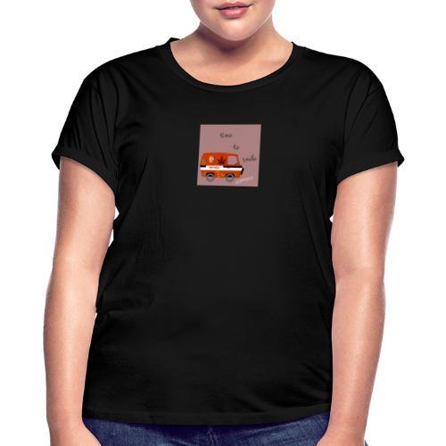peace and love - Camiseta holgada de mujer