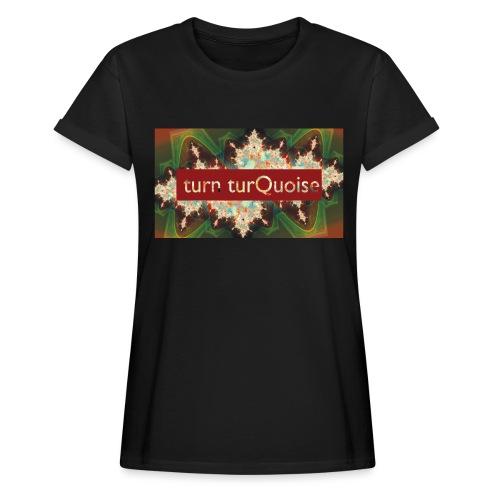 turn turQuoise Logo 2 - Frauen Oversize T-Shirt