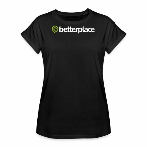 betterplace_Logo_neg_grue - Frauen Oversize T-Shirt