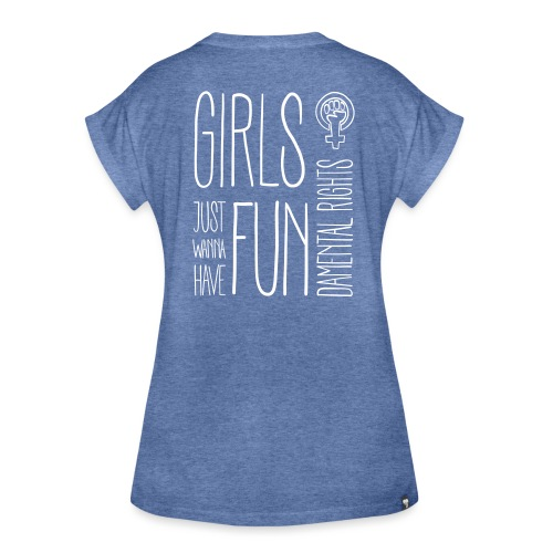 Girls just wanna have fundamental rights - Frauen Oversize T-Shirt