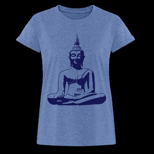 Boeddha beeld - Vrouwen oversize T-shirt