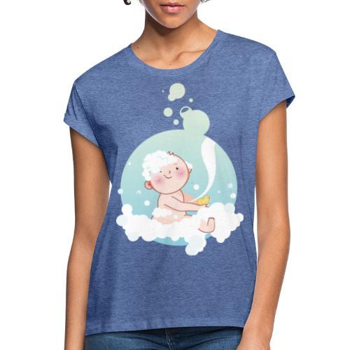 Umstandsmode T-Shirt mit Motiv - Frauen Oversize T-Shirt