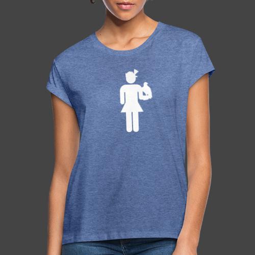 Falknerin-Shirt für Jägerinnen - Frauen Oversize T-Shirt
