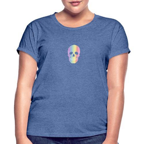 Rainbow Skull - Naisten oversized-t-paita