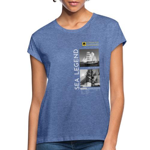 RUNNING ON WAVES. SEA LEGEND - Women's Oversize T-Shirt