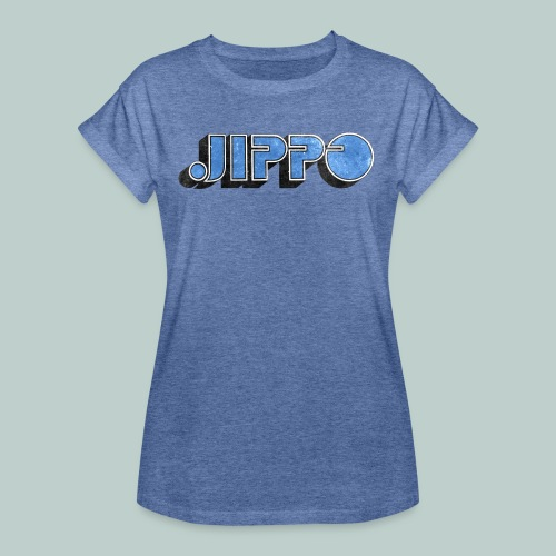 JIPPO LOGO (blue) - Naisten oversized-t-paita