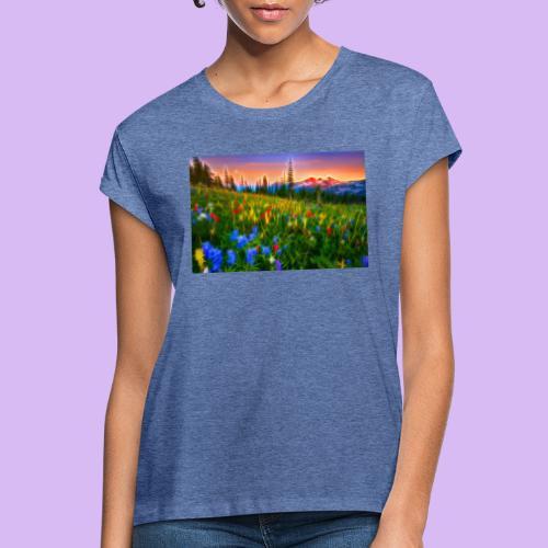 Bagliori in montagna - Maglietta ampia da donna