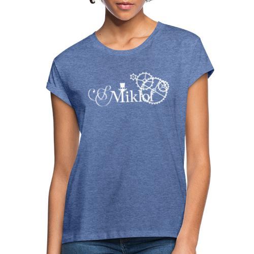 miklof logo white 3000px - Women's Oversize T-Shirt