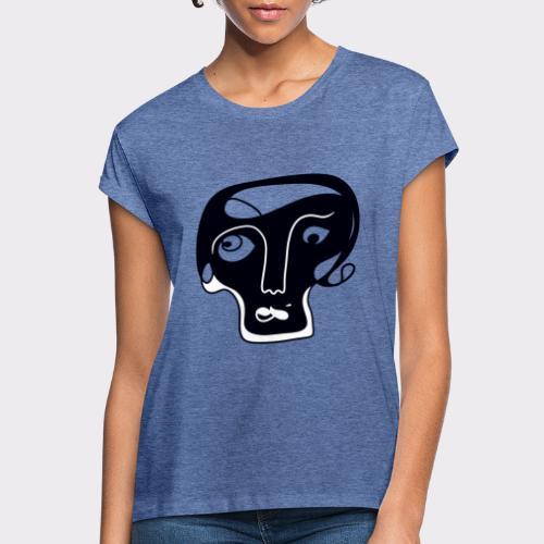 Totenkopf Blau Line Art Stil Geschenkideen - Frauen Oversize T-Shirt