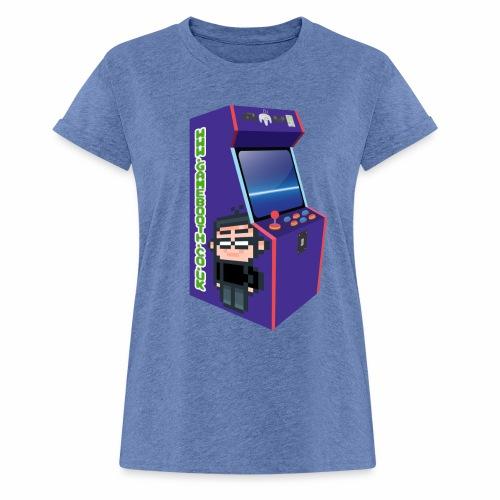 Game Booth Arcade Logo - Women's Oversize T-Shirt