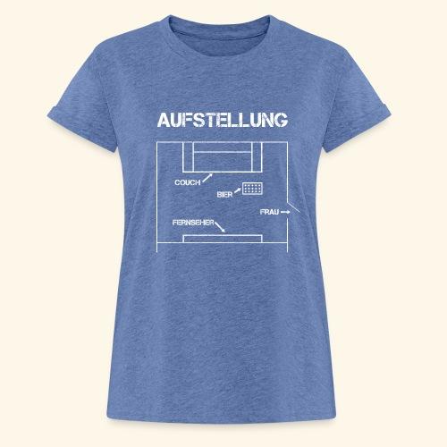 Fussball Aufstellung Weltmeisterschaft Geschenk - Frauen Oversize T-Shirt