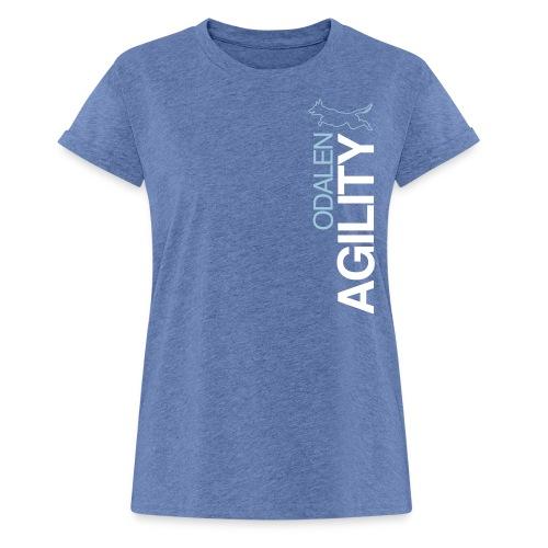 odalen agility blue1 - Women's Oversize T-Shirt