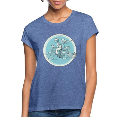 To the Beach - Backround - Frauen Oversize T-Shirt