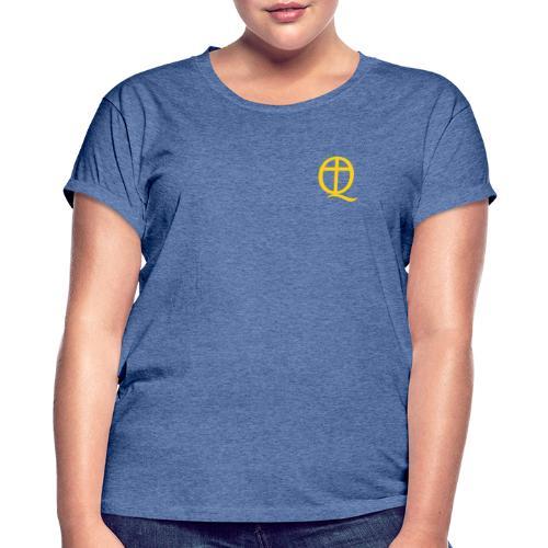 QC Gul - Oversize-T-shirt dam
