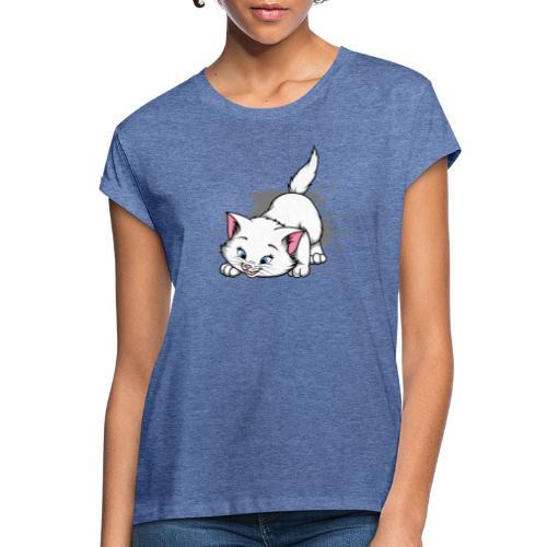 Katze Splash Pfützen Sprung - Frauen Oversize T-Shirt