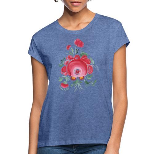 Ostfriesische Rose - Frauen Oversize T-Shirt