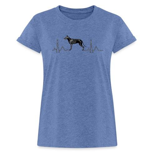 ECG met hond - Vrouwen oversize T-shirt
