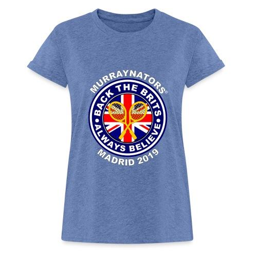 BackTheBritsMadrid19 - Women's Oversize T-Shirt