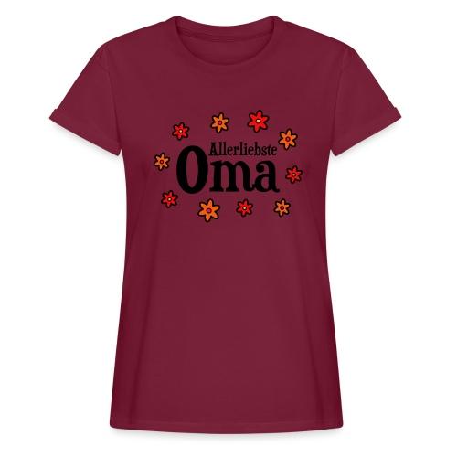 Allerliebste Oma Blumen Geschenk - Frauen Oversize T-Shirt