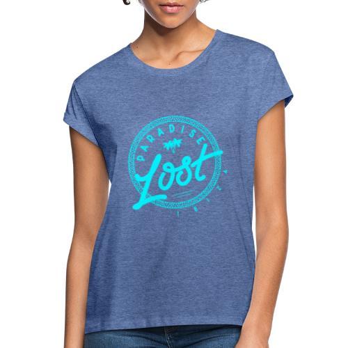 Paradise Lost Ibiza - Acid Blue Logo - Women's Oversize T-Shirt