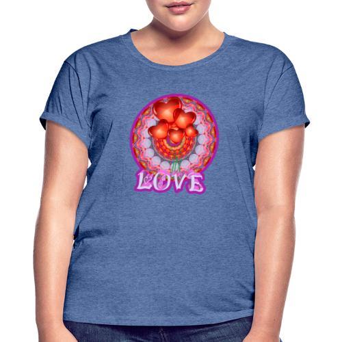 Love djf - Camiseta holgada de mujer