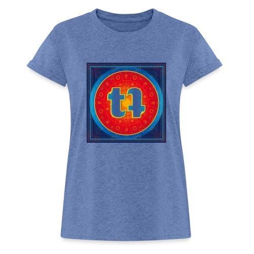 turn turQuoise Logo - Frauen Oversize T-Shirt