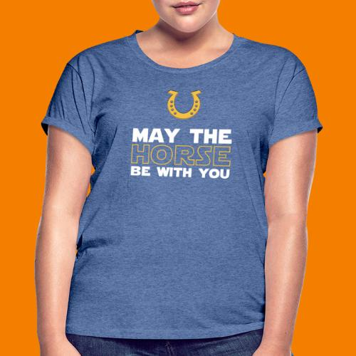 May the horse be with you - Oversize-T-shirt dam
