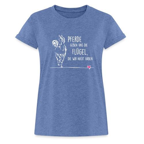 Vorschau: Pferd Flügel - Frauen Oversize T-Shirt