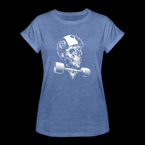 Skull Longboard Rider - negative print - T-shirt oversize Femme