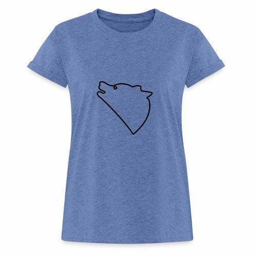 Wolf baul logo - Vrouwen oversize T-shirt