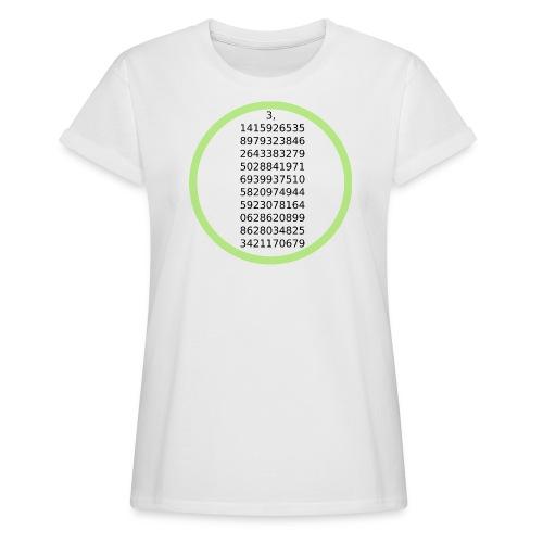 Number Pi Green Circle - Naisten oversized-t-paita