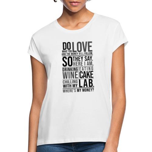 Wine, Cake, Lab III - Naisten oversized-t-paita