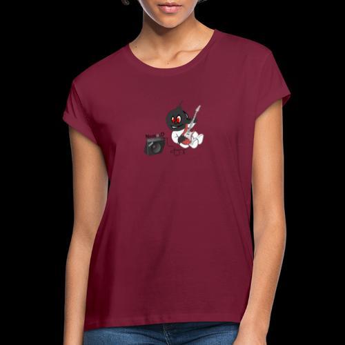 logo guitar - T-shirt oversize Femme