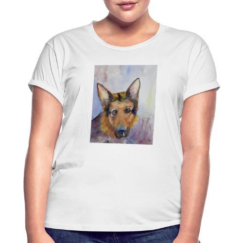 german shepherd wc - Dame oversize T-shirt