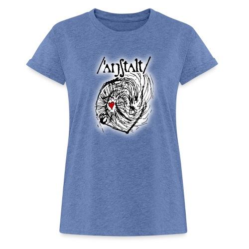 wesen mit herz und logo - Frauen Oversize T-Shirt