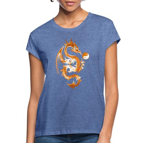 Der Drache spielt mit der Energie des Lebens. - Frauen Oversize T-Shirt