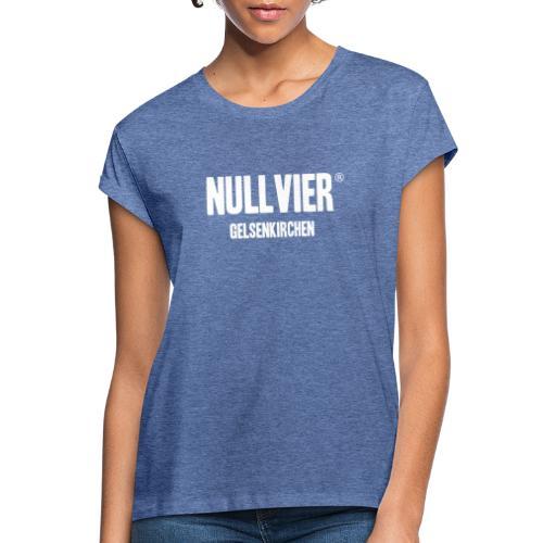 NULLVIER WHITE - Frauen Oversize T-Shirt